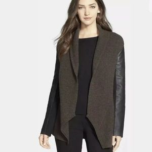 Eileen Fisher wool leather jacket small